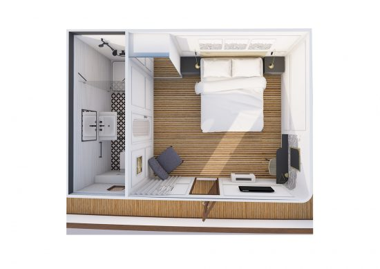 MS Acra Fiumana Cabin Plan