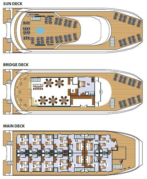MS Adriatic Queen - Deck Plan